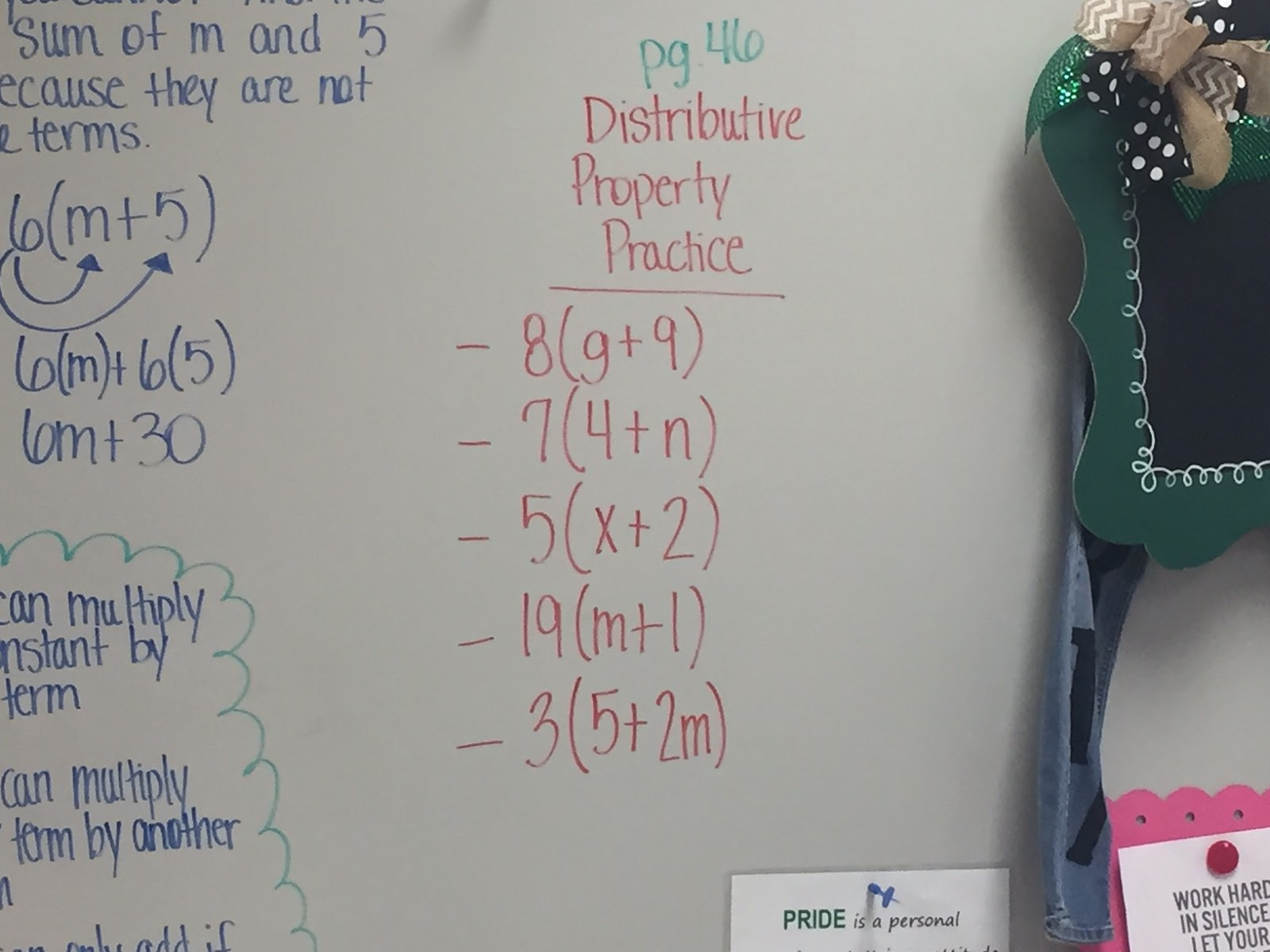 Mrs White S 6th Grade Math Blog Combining Like Terms