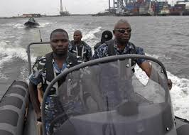 Nigerian Navy Officers In Water