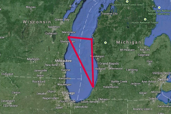 Danau Michigan Triangle
