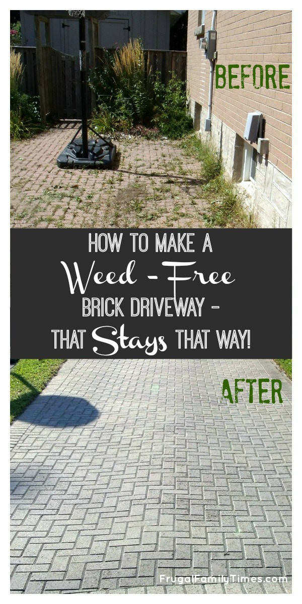 How to make a weed free brick driveway that stays that way before and after weedless driveway polymeric sand how to solutioingenieria Images