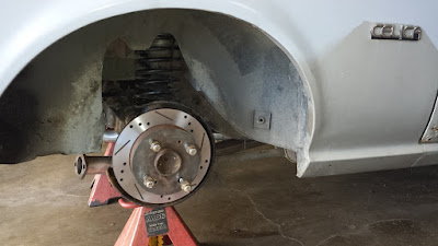 Converted read drum brakes to disc brakes.