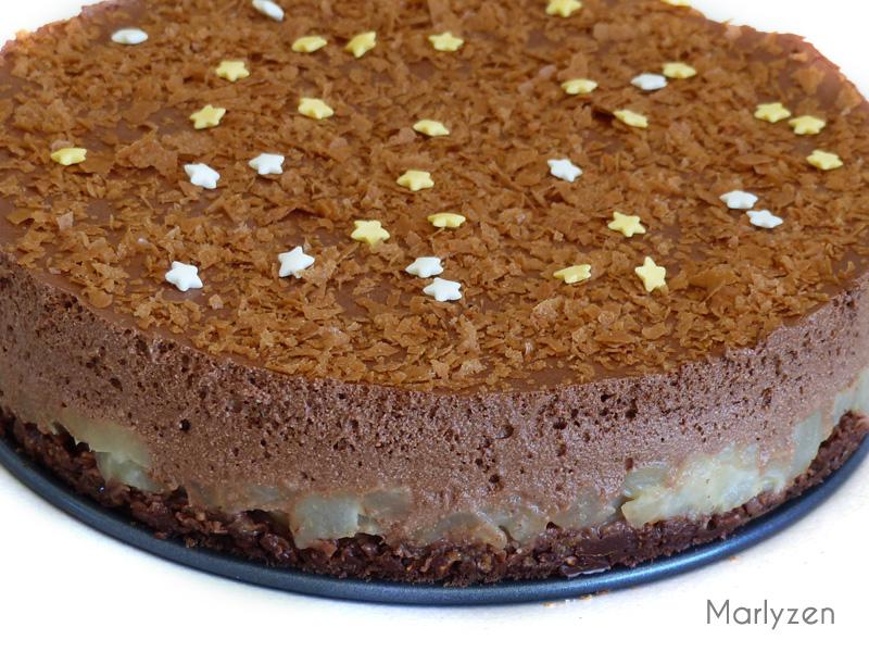 Gâteau crousti-fondant poire - chocolat