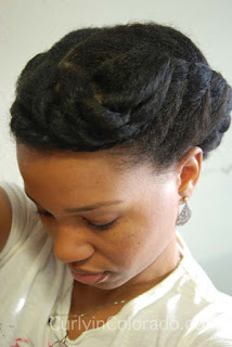 Protective Style: Flat Twist UpDo - Curly in Colorado