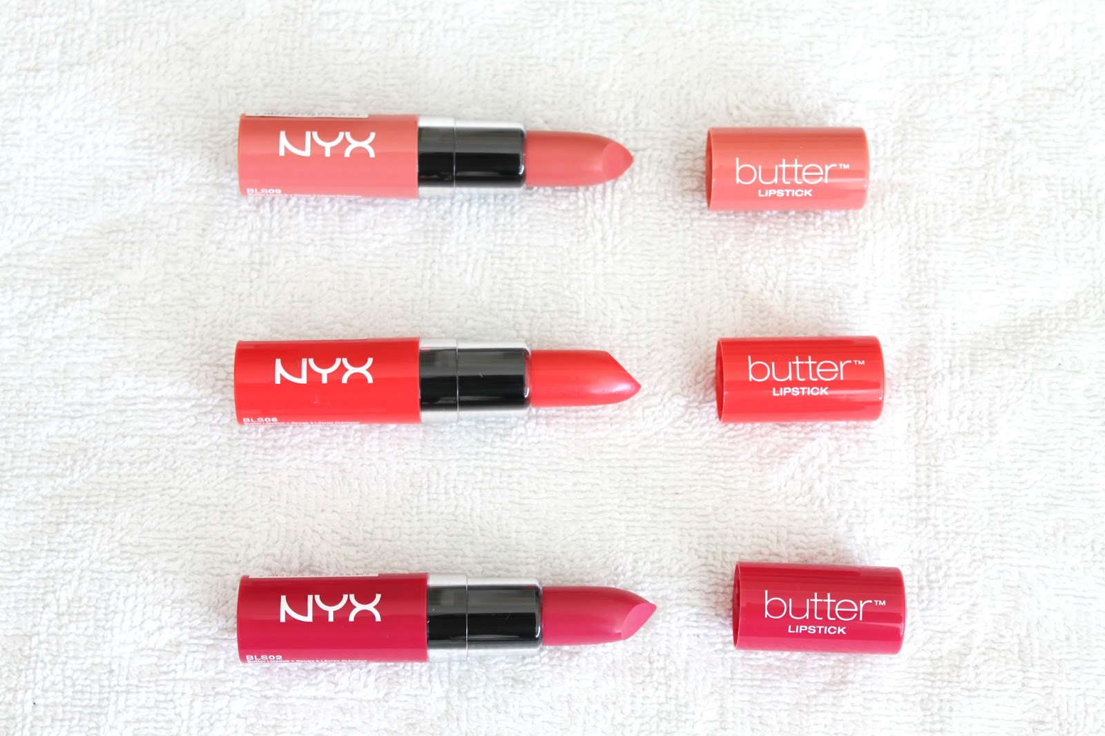 NYX Butter Lipsticks Candy Buttons, Fireball, Sweet Tart