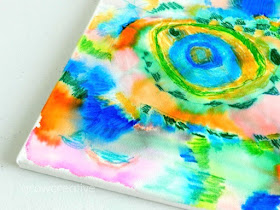 rubbing alcohol and sharpie art project for kids