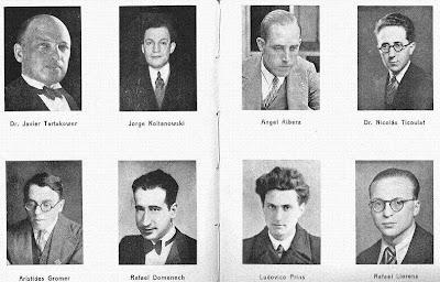 Fotos individuales de los ajedrecistas participantes en el I Torneo Internacional de Ajedrez de Sitges 1934