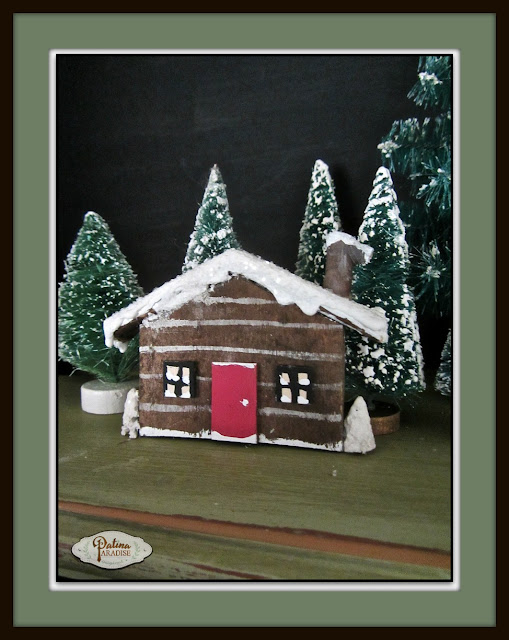 Rustic Pallet Wood Cabin Ornament