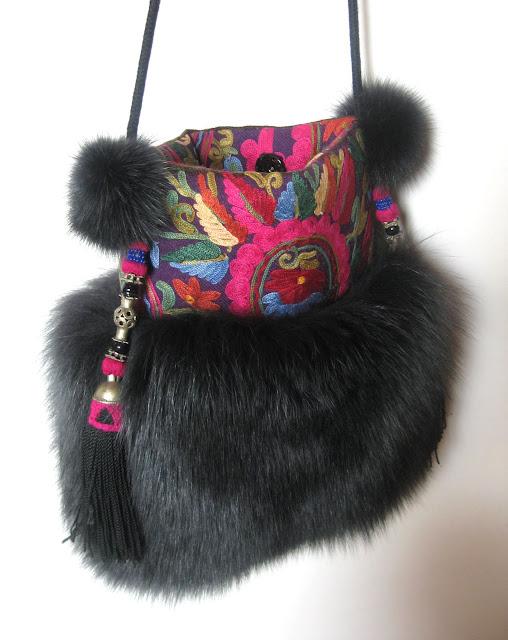 pelstasker, tasker i pels, tasker, skuldertasker, pels,