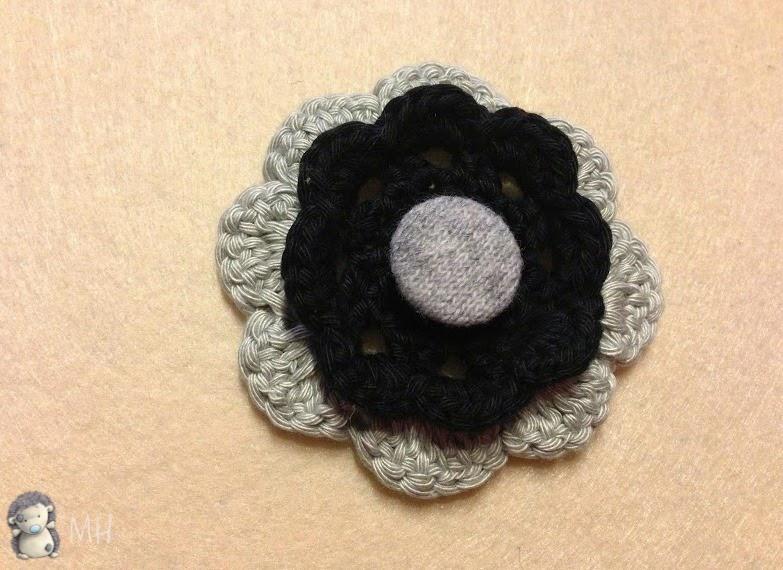Flor para sombrero cloche