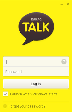 Log Screen KakaoTalk