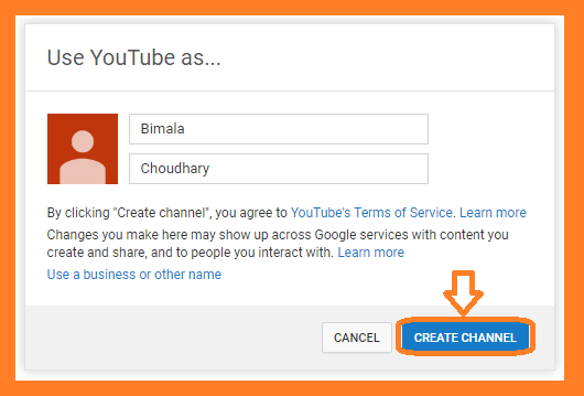 New youtube channel creation for those not having google plus profile