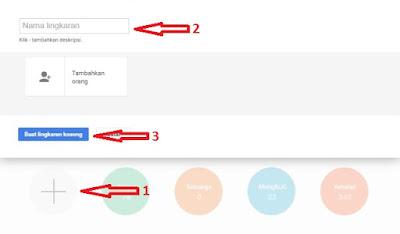 Cara Membuat Lingkaran (Circles) Di Google Plus