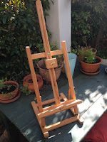 An easel that I bought from the Deckle Edge.