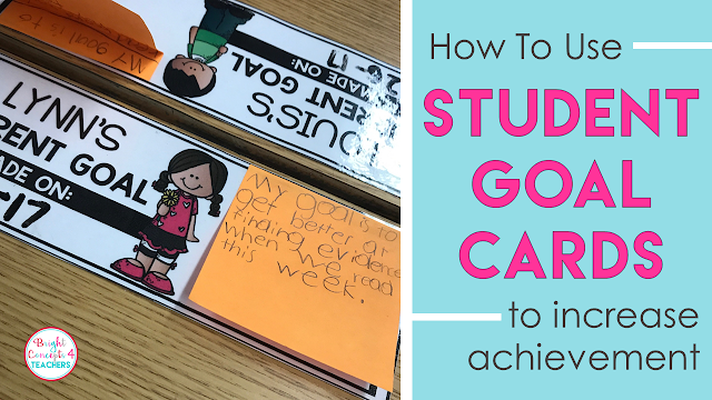 FREE student goal cards