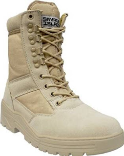 £20.39 Desert Army Combat Patrol Side Zip Tactical Boots Military Lightweight 3UK-6UK