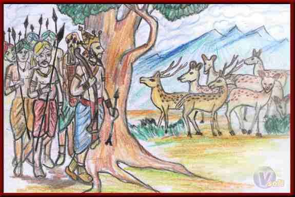 The Story of NigrodhaRaj Deer ~ Jatak Tales In Hindi | निग्रोधराज मृग के बलिदान की कथा ~ जातक कथाएँ