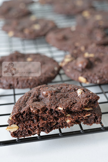 dark chocolate oatmeal cookies no egg eggless