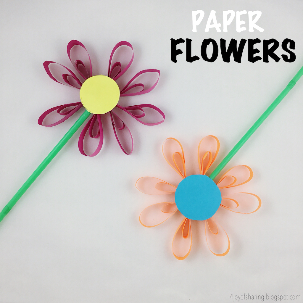 Paper flower craft the joy of sharing paper flower craft mightylinksfo