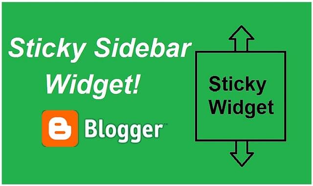 Sticky Floating Sidebar Widget for Blogger