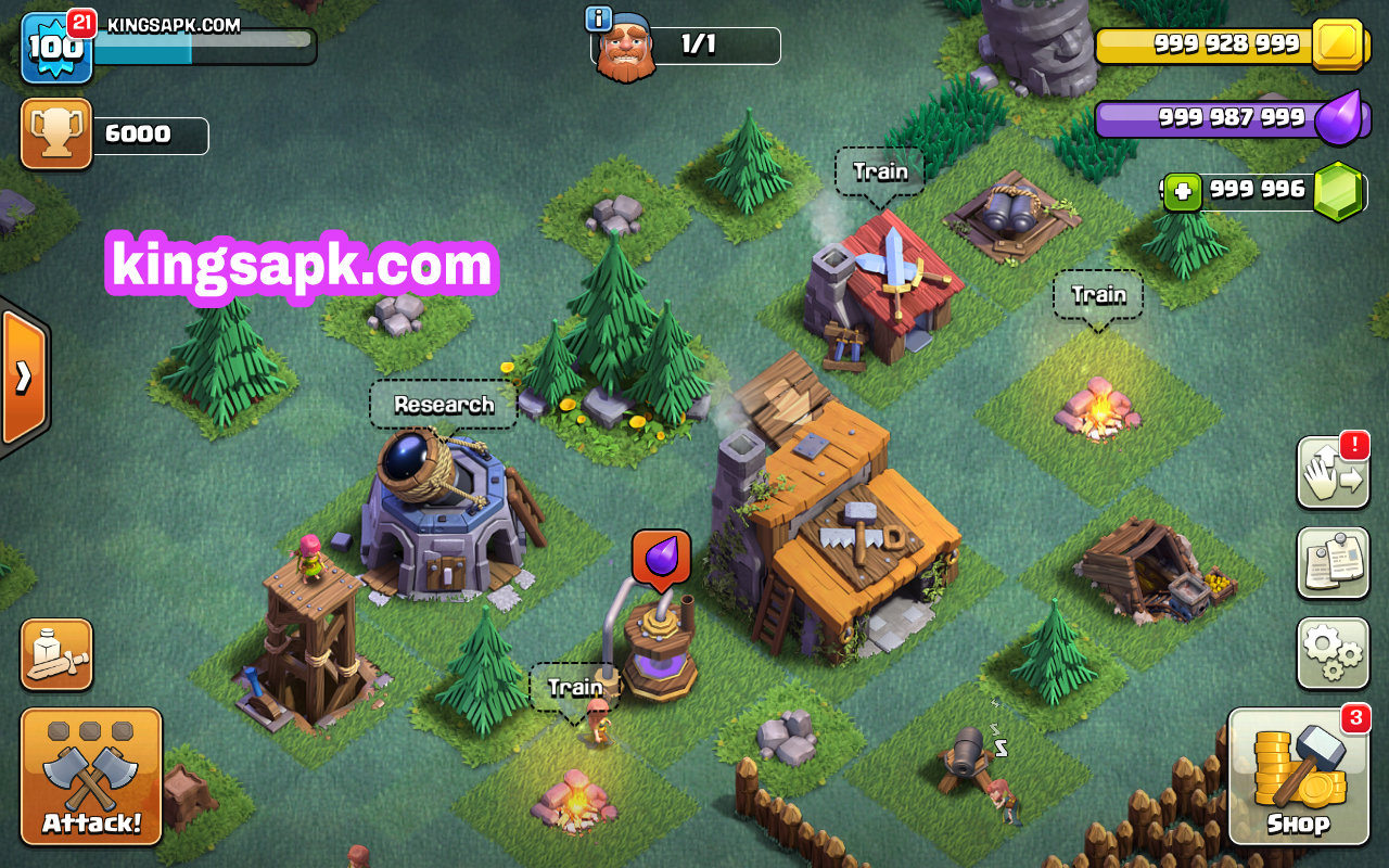 Coc Clash Of Lights Mod Apk V9 256 4 Unlimited Gems