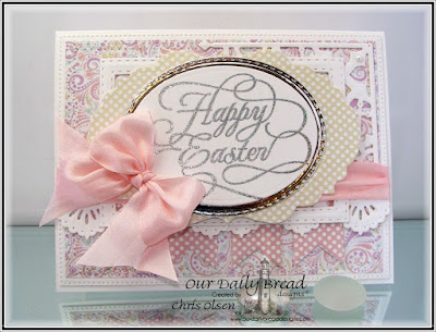 Our Daily Bread Designs Stamp: Flourished Happy Easter, Our Daily Bread Designs Paper Collections:Pastel Paper Pack 2016, Easter Card 2016, Our Daily Bread Designs Custom Dies:Beautiful Borders, Pennants, Double Stitched Rectangles, Rectangles, Decorative Corners, Stitched Ovals, Ovals, Flourished Star Pattern