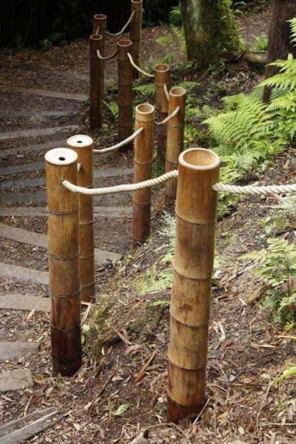 Pagar dari bambu