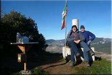 San Vitores mendiaren gailurra 895 m. -- 2017ko urtarrilaren 6an