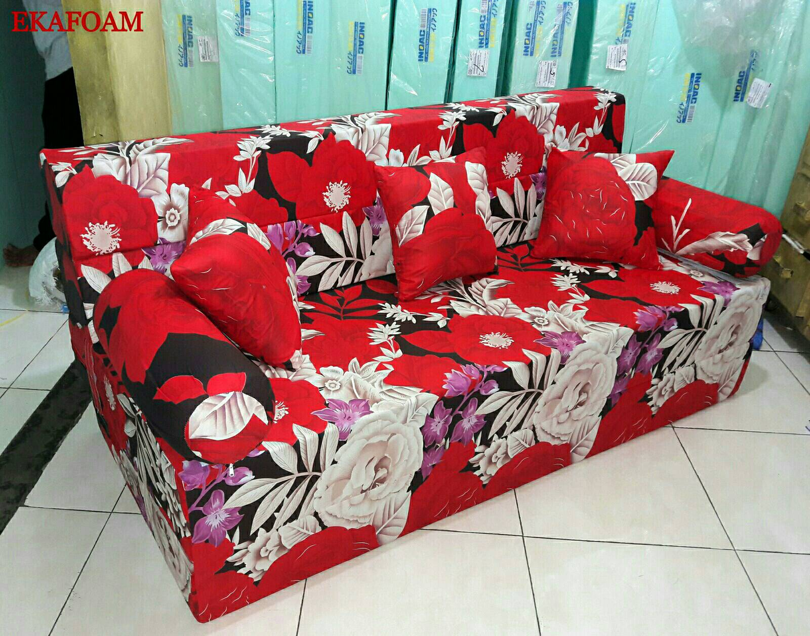 sofa bed inoac 3 in 1 arezzo pink sleeper 2017 full motif agen resmi kasur busa
