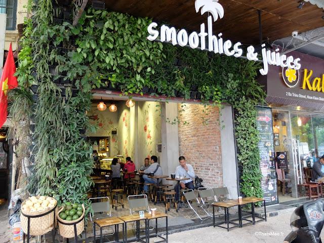 bar smoothies et jus de fruits hanoi vietnam