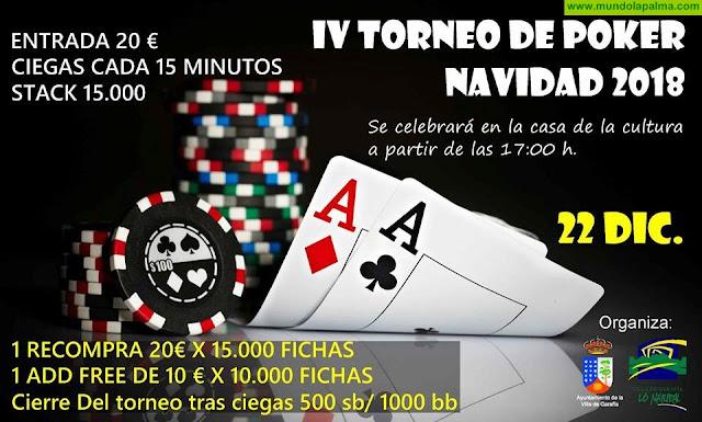 IV Torneo de Poker Navidad 2018 en Garafía