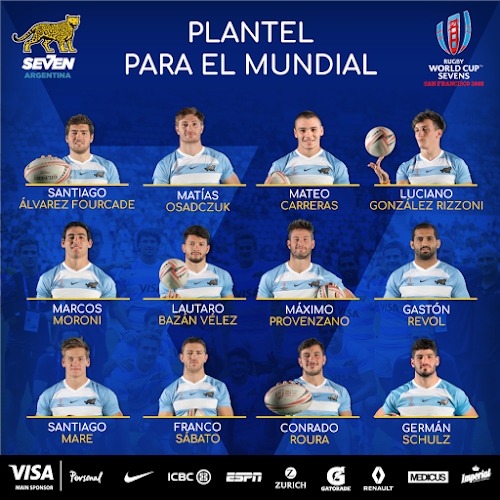 Plantel de Los Pumas 7s para el Mundial #RWC7s