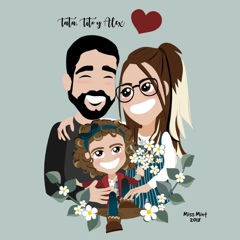 regalos | ilustraciones personalizadas Miss MInt