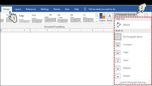 Mengatur Jarak Paragraf Untuk Seluruh Dokumen 1