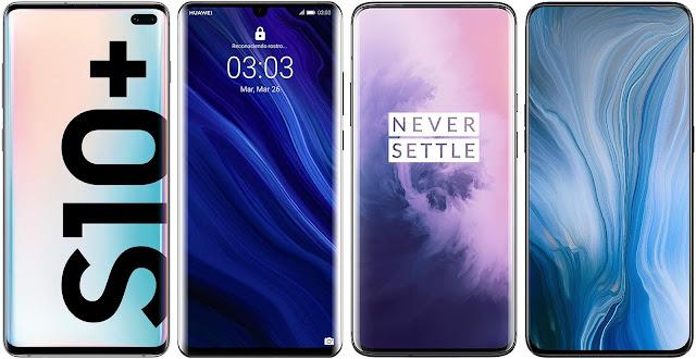 Samsung Galaxy S10 Plus vs Huawei P30 Pro vs OnePlus 7 Pro vs Oppo Reno 10x Zoom