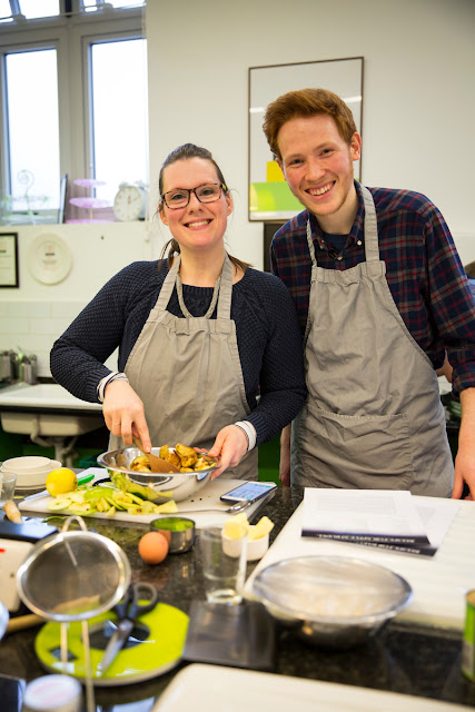 Mrs Bishop and Andrew Smyth Baking with Beasts