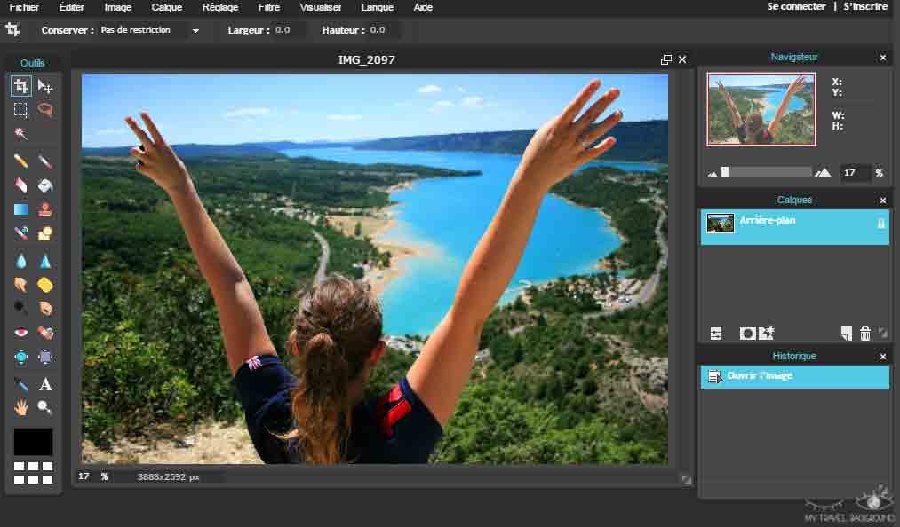 My Travel Background : 3 logiciels pour retoucher rapidement ses photos en ligne - Pixlr