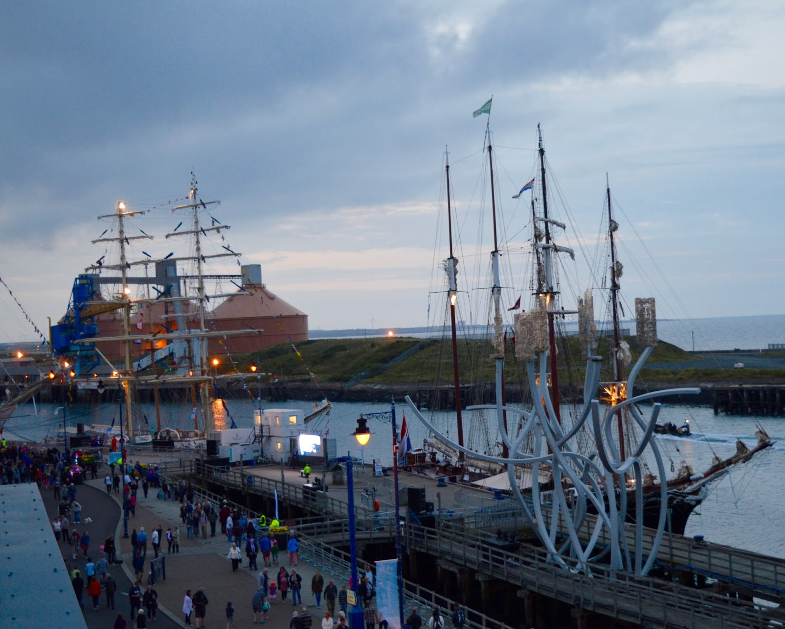 Tall Ships Regatta | Blyth 2016 | Commissioners Quay Inn - view from balcony room/suite