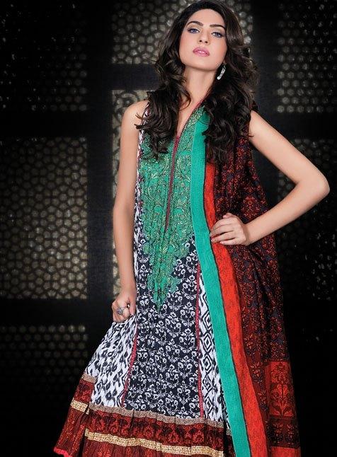 Pakistani Salwar Kameez Dresses Style Latest 2012