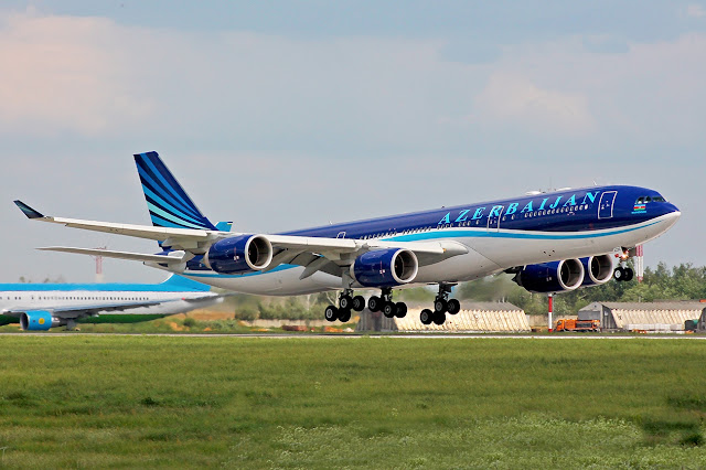 Azerbaijan Airlines Airbus A340-500 Takeoff