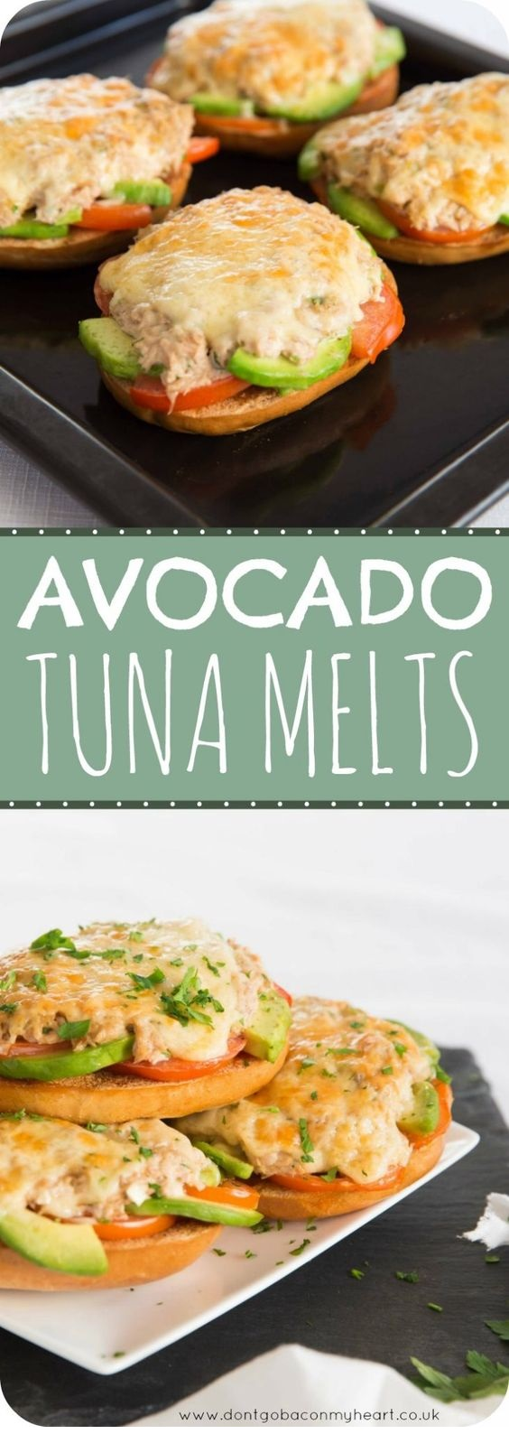 Avocado Tuna Melt Bagels