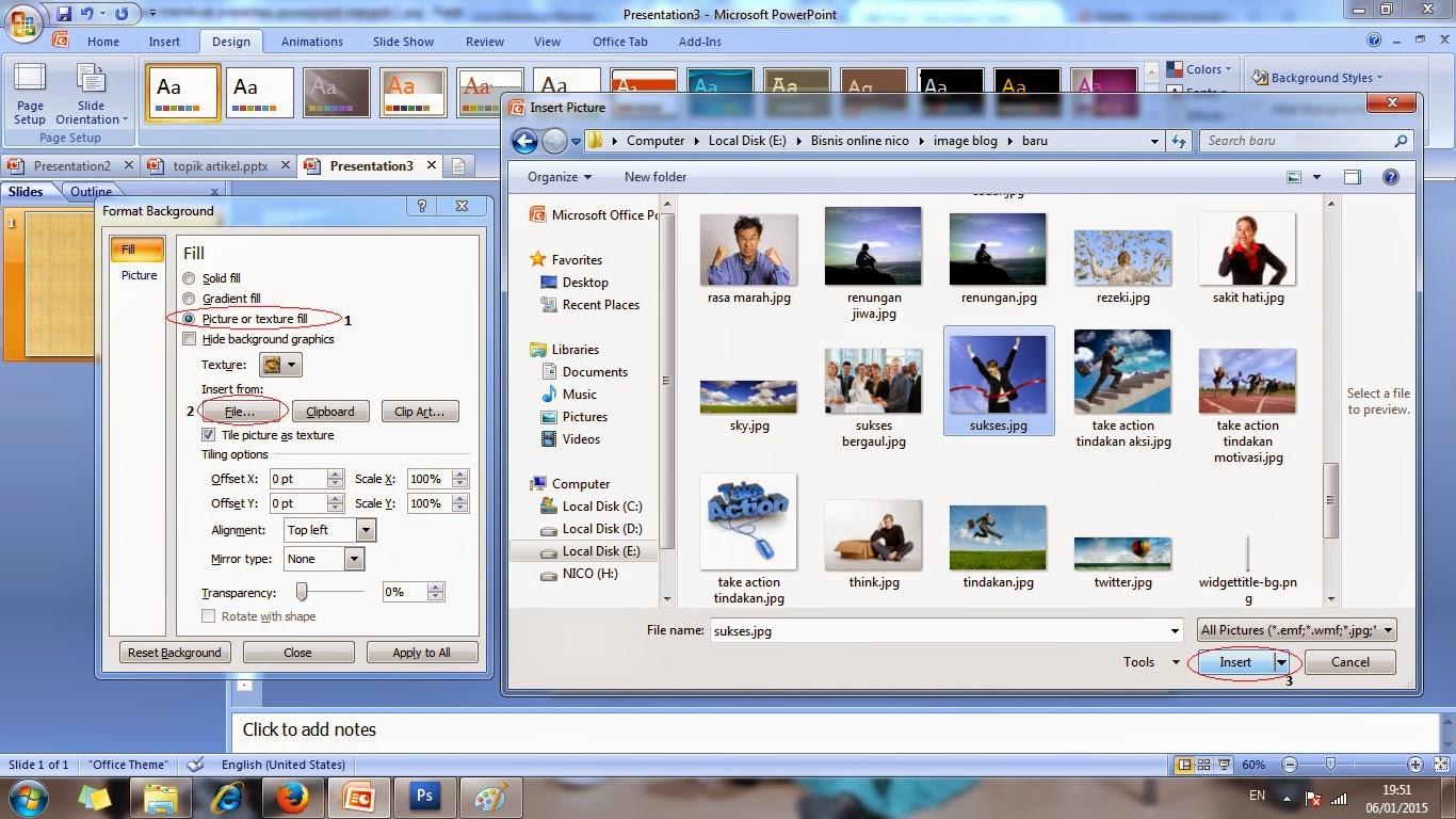 Cara Penggunaan Animasi Gambar Bergerak Untuk Membuat Presentasi