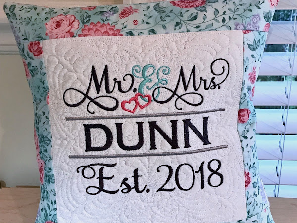 Wedding Monogram Pillow