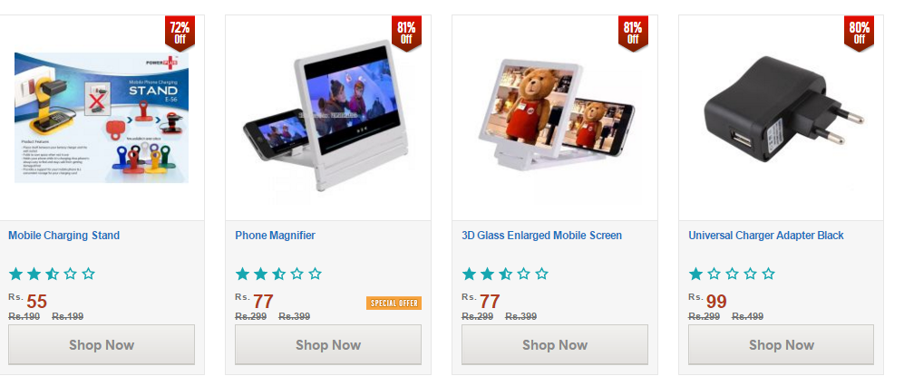 Shopclues Offer :Get Mobile and Mobile Accessories starting at Rs.55 Only (Best Suggestion Added)