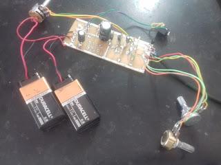 placa do detector iônico caseiro