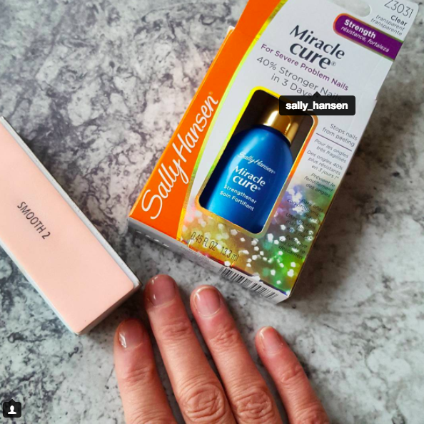 sally hansen miracle cure for flaky nails