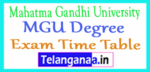 MGU Degree Regular / Backlog Practical Exam Time Table