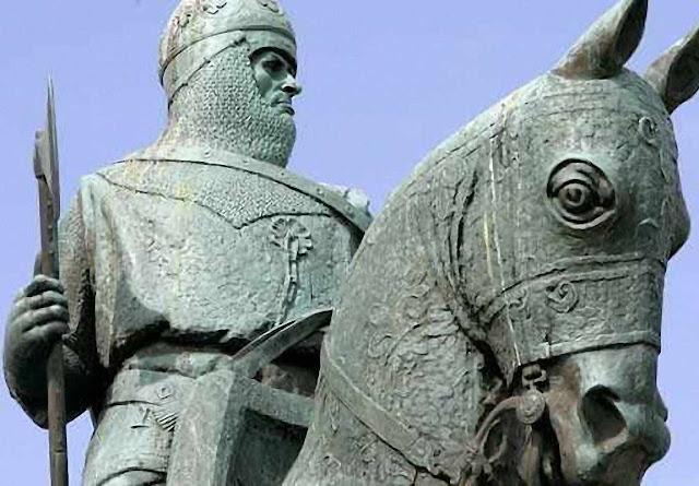 Robert Bruce, estátua en Bannockburn