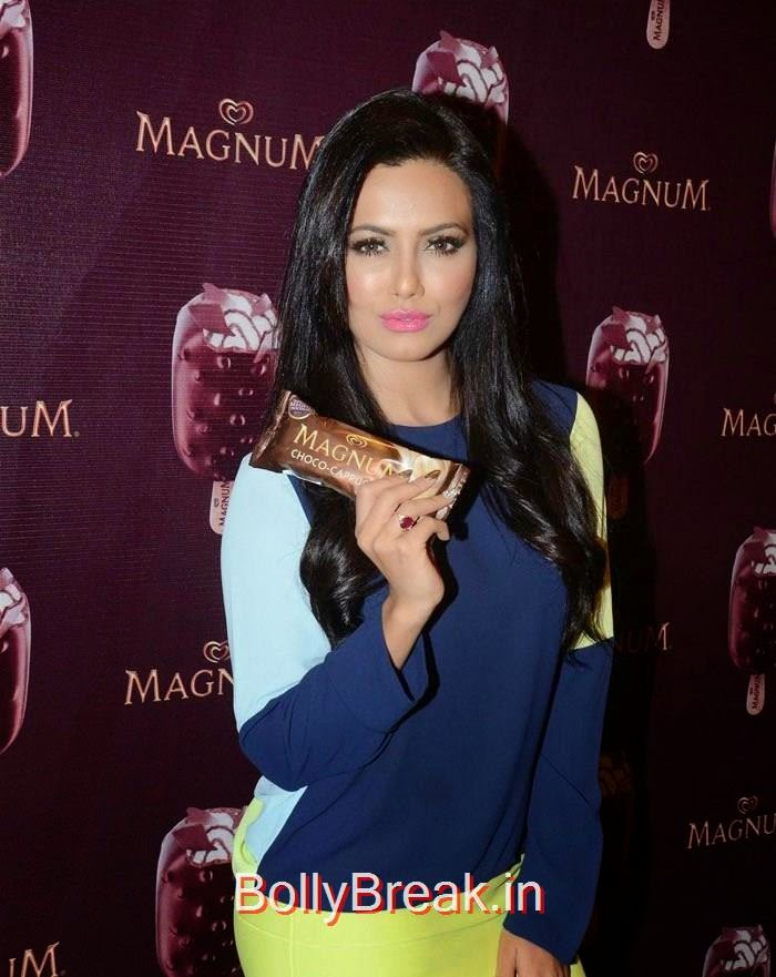 Sana Khan, Urvashi Rautela,Sana Khan, Soha Ali Khan, Magnum's Choco Cappuccino flavour Icecream Launch