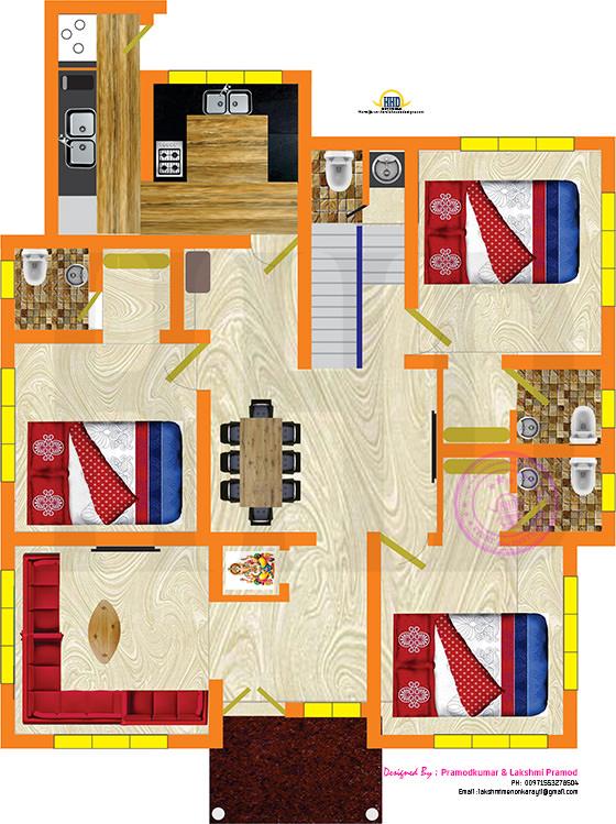 Floor plan by Pramodkumar and Lakshmi Pramod