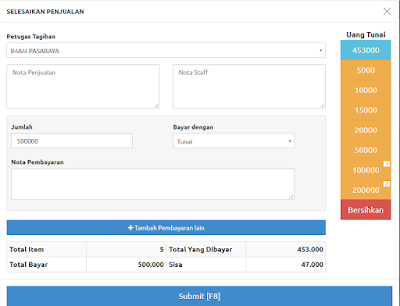 Sistem Penjualan Terpadi Fitur Akuntansi + Kasir Menggunakan Codeigniter